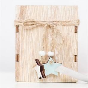 2 PCS Creative Christmas Mini Wooden Candlestick Christmas Home Decoration Desktop Decoration, Size:S