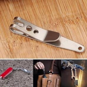 5PCS EDC Bag Key Ring Suspension Clip with Metal Key Ring Buckle Carabiner Stainless Steel Outdoor Tool