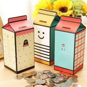 3 PCS Milk DesignCute Paper Bank Piggy Bank Children Toys Gift Home Decoration, Style Randomly Delivery