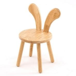 Home Cartoon Wooden Bench Creative Baby Dining Chair Children Learning Chair Rabbit Ears Small Stool(Bent Ear)