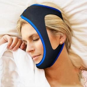 2 PCS Triangular Shackles with Chin Straps for Men and Women to Prevent Snoring(Blue)
