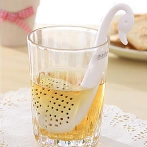 5 PCS Swan Loose Tea Strainer Herb Spice Filter(White)