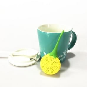 Silicone Tea Strainer Strawberry Lemon Design Loose Tea Leaf Strainer Bag Herbal Spice Infuser Filter(Lemon)