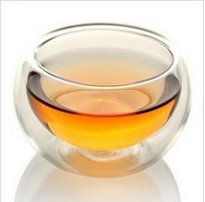 2 PCS Elegant Clear Drinking Cup Heat Resistant Double Wall Layer Tea Cup 50ML