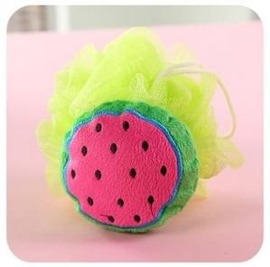 Cotton Cartoon Soft Baby Bath Sponge Powder Puff Newbron Infant Shower Towel Balls(Watermelon)