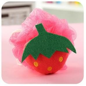 Cotton Cartoon Soft Baby Bath Sponge Powder Puff Newbron Infant Shower Towel Balls(Strawberry)