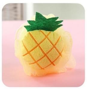 Cotton Cartoon Soft Baby Bath Sponge Powder Puff Newbron Infant Shower Towel Balls(Pineapple)