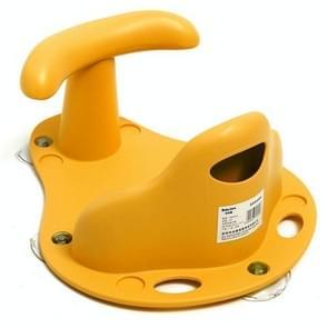 Tub Seat Baby Bathtub Pad Mat Chair Safety Security Anti Slip Children Bathing Seat Washing Toys(Yellow)