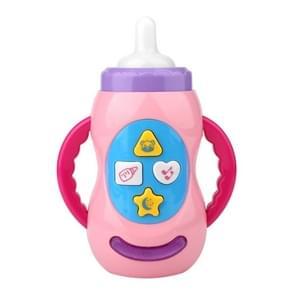 Baby Educatieve Muziek Speelgoedtandentje Bijten Simulatie Fles (Roze)
