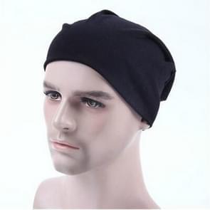 Men Candy Colors Knit Sleeve Cap Hip-hop Cap, Hat Size:One Size(Black)