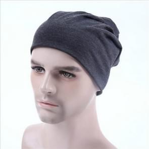 Men Candy Colors Knit Sleeve Cap Hip-hop Cap, Hat Size:One Size(Dark Gray)