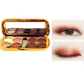 3 PC'S glanzend oog Shadow palet (10 # roze wijn rood)