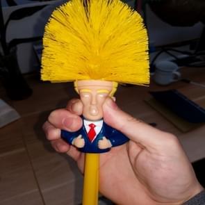 Make Toilet Great Again Funny Gag Funny Gag Toilet Yellow Brush