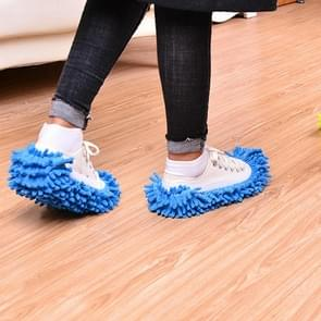 2 PCS Bathroom Floor Shoes Covers Polyester Solid Dust Cleaner Cleaning Mop Slipper