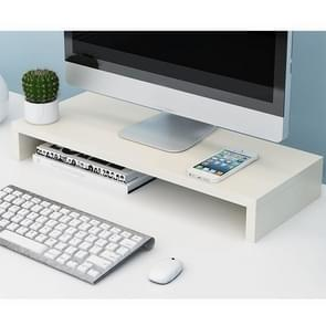 1 Layer Wooden Monitor Stand LCD Computer Screen Monitor Riser(White)
