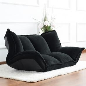 RecliningSofa Bed Folding Adjustable Sleeper Chaise Lounge Recliner For Living Room Sofa(Black )
