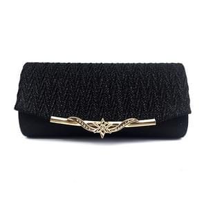 Fashion Chain Dinner Bag Clutch Shoulder Messenger Bag Women Wallet(Black)