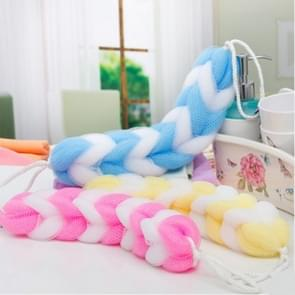 5 PCS Soft Back Strap Bath Scrubber Rich Bubbles Body Brush Shower Bath Ball(Random Color Delivery)