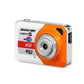 X6 Portable Ultra Mini HD Kids Digital Camera DV Camcorder with Key Ring, Support TF Card(Vibrant Orange)