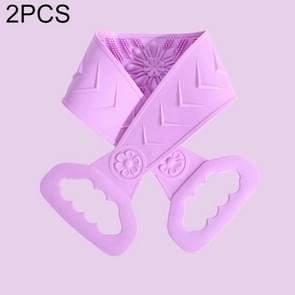 2 PCS Siliconen Wrijven handdoek mannen en vrouwen sterk wrijven terug wrijven Modder Strip Terug peeling Badhanddoek (Lilac Purple)