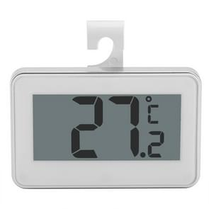 Large LCD Refrigerator Thermometer with Adjustable Stand  Magnet Digital Thermometer(White)