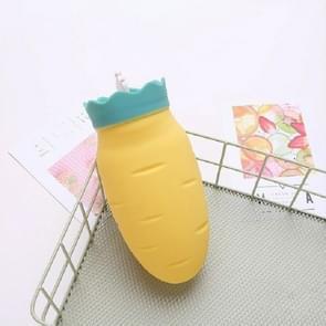 Hand warmer waterinjectie wortel heet waterfles siliconen irrigatie warmer (geel)