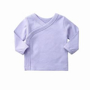 Spring and Autumn Baby Solid Color Cotton Underwear Home Clothes Bottoming Tops, Height:73cm(Light Purple)