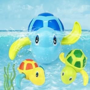 Cartoon Turtle Shape Clockwork Toy Babies Bathing Play Water Toy Children Educational Toy(Orange)