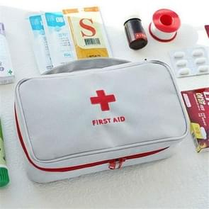 Travel First Aid Kit Bag Home Emergency Medical Survival Rescue Box(Gray)