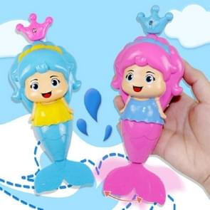 Mermaid Shape Clockwork Toy Children Play Water Bath Toys(Color Random Delivery)