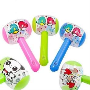 3 STKS opblaasbare Hammer kinderen cartoon opblaasbare speelgoed  grootte: 16 × 26cm (kleur en stijl willekeurige levering)