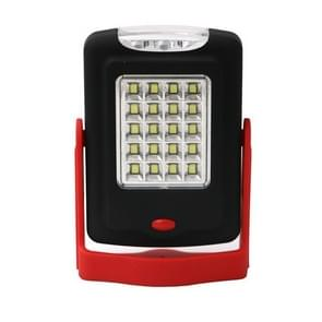 23 LEDs 2-modes Portable LED Overhaul Work Light Outdoor Camping Emergency Hand Lamp with Hook & Holder(Red)