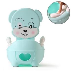 Baby Potty Toilet Bowl Training Seat Portable Urinal Comfortable Backrest Cartoon Cute Toilet(Padded blue cute dog)