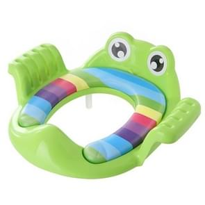 Baby Toilet Seat Cushion Toilet Seat Ring Baby Auxiliary Toilet Child Seat Washer(Green)