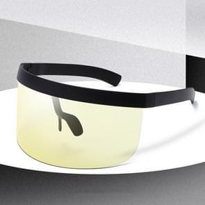 Anti-glurenzonspiegel geïntegreerde anti-schuim zonnebrandcrème masker  kleur: zwart frame geel