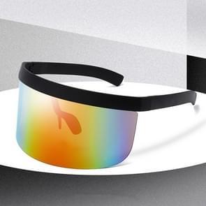 Anti-glurenzonspiegel geïntegreerde anti-schuim zonnebrandcrème masker  kleur: zwart frame regenboog