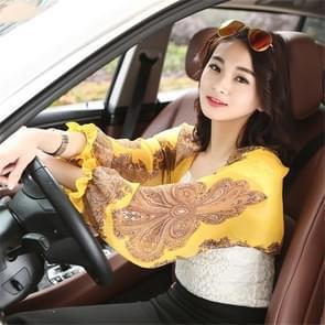 2 PCS Lente en Zomer Chiffon zonbescherming kleding Outdoor Riding Cashew bedrukte UV-bescherming mouw  grootte: 160 x 50cm (geel)