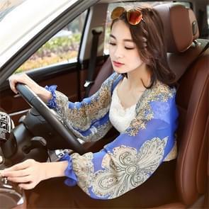 2 PCS Lente en Zomer Chiffon Zonbescherming kleding Outdoor Riding Cashew bedrukte UV-bescherming mouw  grootte: 160 x 50cm (Royal Blue)