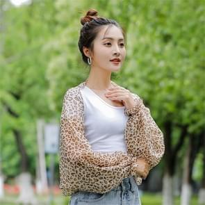 2 PCS Lente en Zomer Chiffon zonbescherming kleding Outdoor Riding Cashew bedrukte UV-bescherming mouw  grootte: 160 x 50cm (Leopard)