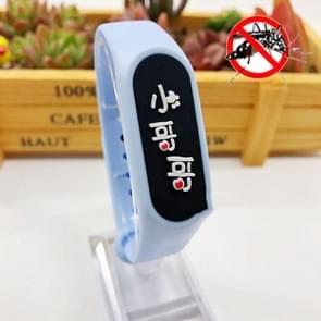 4 PCS Kinderen Anti-mug Plant Essential Oil Repellent Sports Bracelet (Blauw)