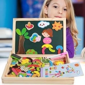 Kinderen Voorschoolse Speelgoed Multifunctionele Puzzel Dubbelzijdige Magnetic Fun Drawing Board