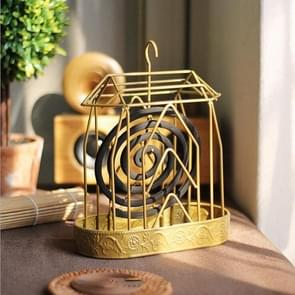 Creative House Mosquito Coil Tray Iron Exquisite Mosquito Coil Frame (Goud)