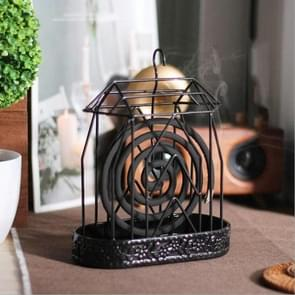 Creative House Mosquito Coil Tray Iron Exquisite Mosquito Coil Frame (Zwart)