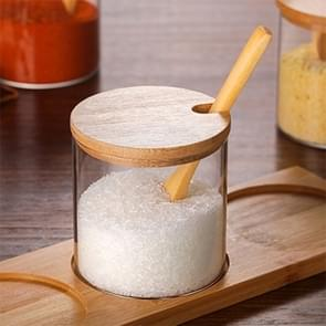 Creative Borosilicate Transparent Seasoning Jar Kitchen Supplies Single Glass Jar