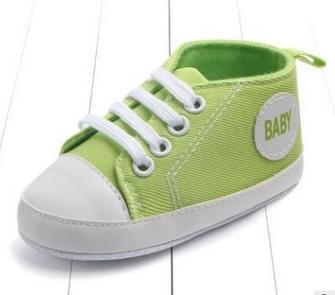 3 paar Canvas Classic Sport Sneakers Pasgeboren Baby jongens meisjes eerste wandelaars schoenen baby peuter zachte enige antislip babyslofjes  Baby leeftijd: 13-18 maanden (licht groene Baby)
