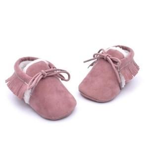 Baby mocassins schoenen Fringe zachte Soled non-slip schoeisel wieg schoenen PU Suede lederen eerste Walker schoenen  grootte: 11cm (licht paars)