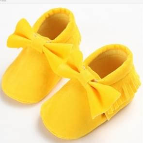 Baby meisjes schoenen eerste Wandelers pasgeboren baby mocassins zachte zool non-slip schoeisel schoenen 12cm (geel)