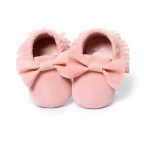 Baby meisjes schoenen eerste Wandelers pasgeboren baby mocassins zachte zool non-slip schoenen schoenen 13cm (Baby Pink)