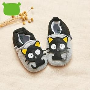 Baby Toddler Shoes Cartoon Soft Bottom Non-slip Warm Shoes, Size:13(Black)