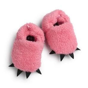 Winter zachte bodem warme poten baby schoenen baby katoenen schoenen non-slip peuter schoenen  babyleeftijd: 12-18 maanden (roze)